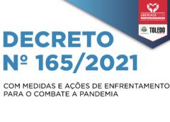 Toledo: Novo decreto libera atividades aos domingos